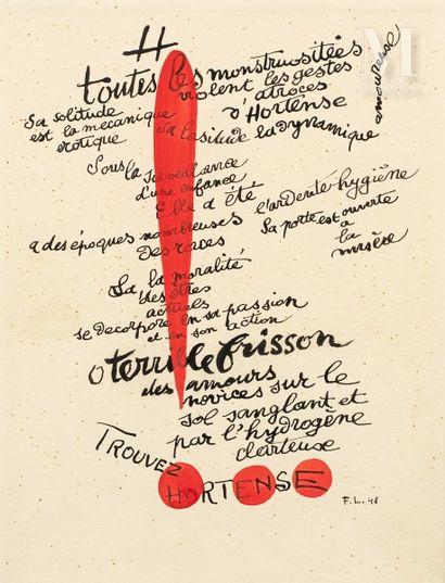 D'après Fernand LEGER  (1881-1955)