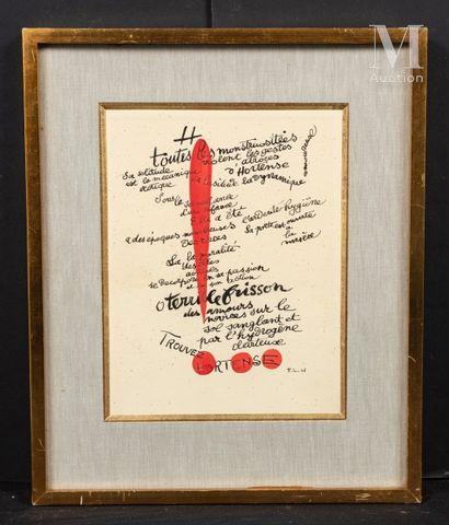 D'après Fernand LEGER (1881-1955) Trouvez Hortense illustration pour les illuminations...