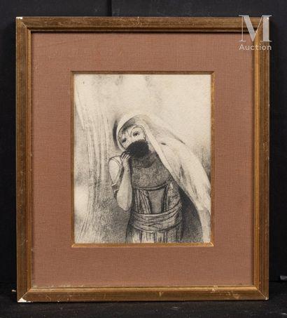 D'après Odilon REDON (1840-1916) Lot de 3 reproductions  - Elle tire de sa poitrine...