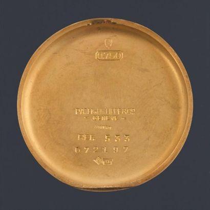 PATEK PHILIPPE Chronographe Calatrava 1952 Très rare. Réf. 533, n°672197 Chronographe...
