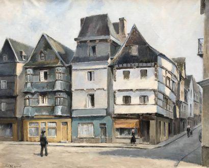 GEORGES RAOUL Deux tableaux  Bois Colombe (?)  Les Tuileries  65 x 82 cm  Huile sur...