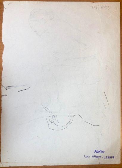 Lou ALBERT-LASARD (Metz 1885-Paris 1969) Personnages  Lot de 4 dessins  Encre noire...