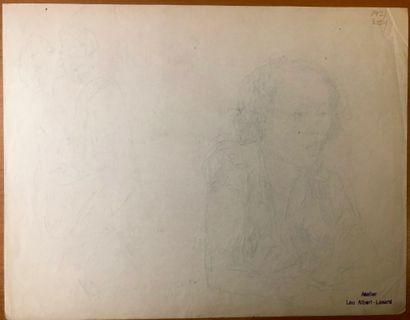 Lou ALBERT-LASARD (Metz 1885-Paris 1969) Personnages  Lot de 4 dessins  De 20,7 x...