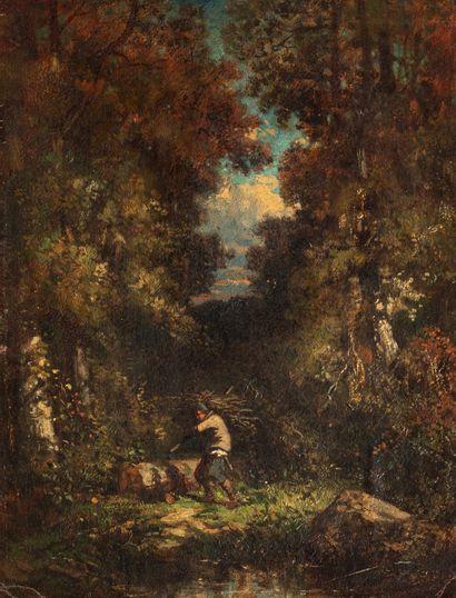 Dans le style de Narcisse DIAZ de la  PENA (Bordeaux 1807 - Menton 1876)