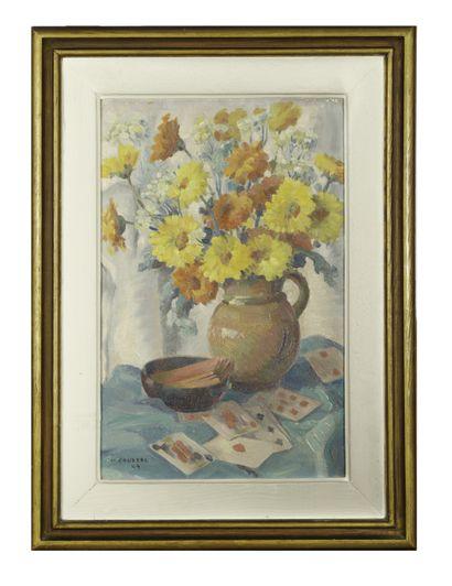 Marcel COUDERC (1898-1991)  Bouquet et jeu...