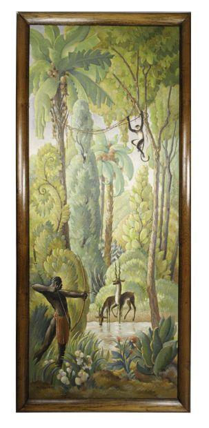Marcel COUDERC (1898-1991)  Scène de chasse...