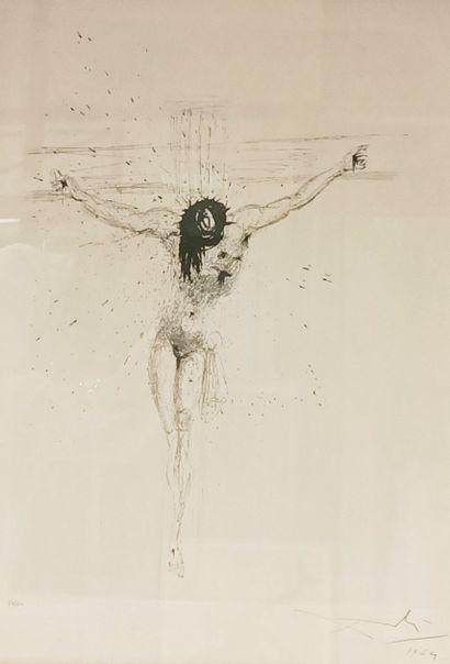 Salvador DALI (1904-1989)  Crucifixion  Lithographie...