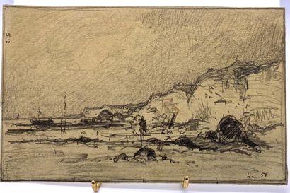 Dans le goût d'Eugène BOUDIN (1824-1898)...