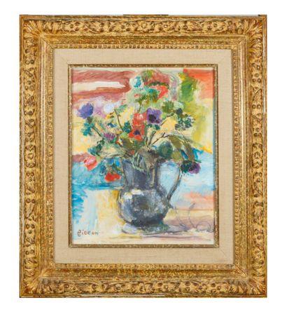 Arthur FILLON (1900-1974)  Bouquet de fleurs...