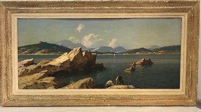 Gustave Vidal (1895-1966)  Paysage de bord...