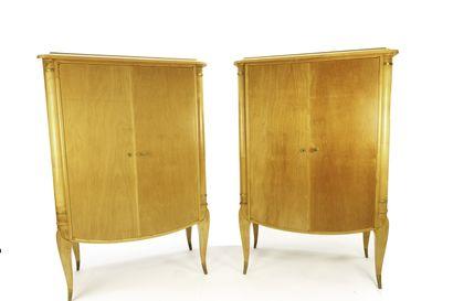 Maurice LAFFAILLE (1902 -1987)  Paires d'armoires...