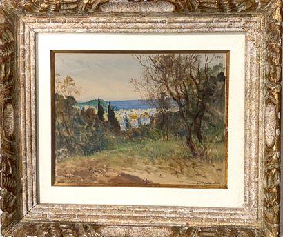 Alexis MOSSA (1844-1926)  Vue des hauteurs...