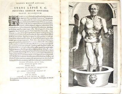 SÉNÈQUE. Opera quae exstant omnia : A Justo Lipsio emendata et Scholiis illustrata....