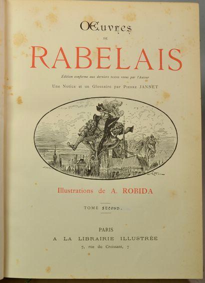 RABELAIS (François). Œuvres. Illustrations de A. ROBIDA. Paris, Librairie illustrée,...