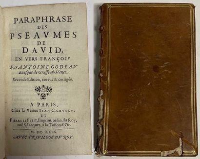 GODEAU (Antoine). Paraphrase des pseaumes...