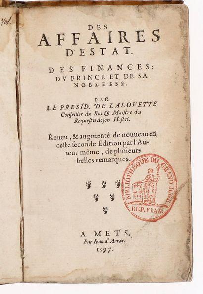 L'ALOUETTE (Francois de).