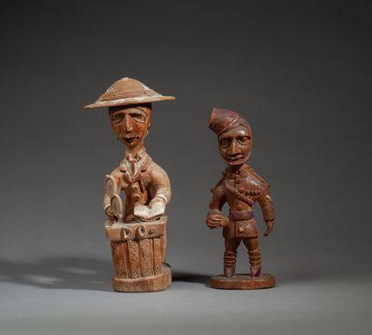Ensemble de deux statuettes
