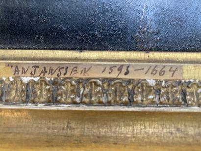 Ecole FLAMANDE du XVIIème siècle Portrait de Charles Ier  Cuivre  Dimensions  Inscription...