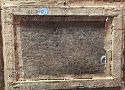 ECOLE FRANCAISE Orage  Huile sur toile  20 x 29 cm  Signée et datée en bas à dro...