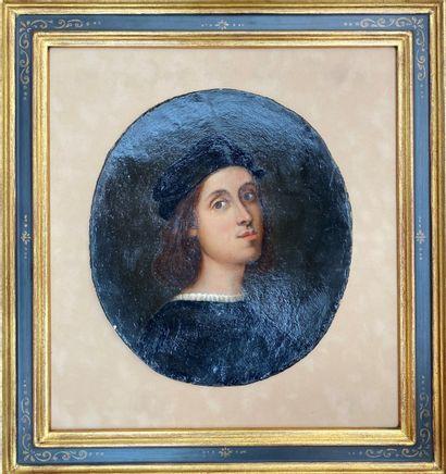 Ecole FRANCAISE ou ITALIENNE du XIXème siècle, d'après RAPHAEL Portrait de Raphael...