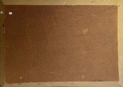 Dieudonné JACOBS (1887 - 1967) Paysage de montagne  Huile sur isorel  62,5 x 92 cm...