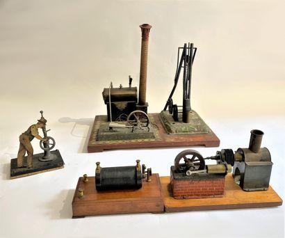 Machine a vapeur et personnage articulé