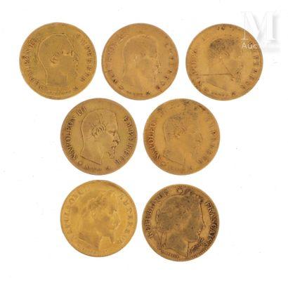 Sept pièces 10 FF or