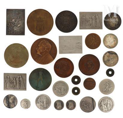 Lot de médailles diverses