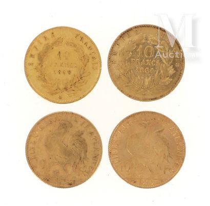 Quatre pièces 10 FF or