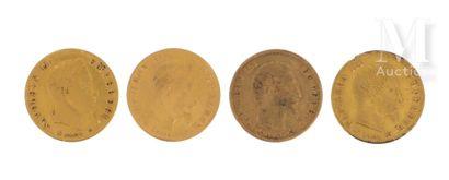 Quatre pièces 5 FF or