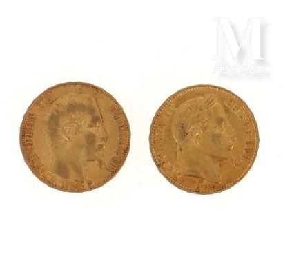 Deux pièces 20 FF or
