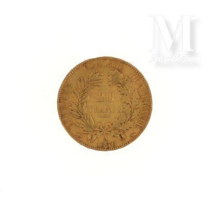 Pièce 20 FF or Une pièce en or de 20 FF Cérès  1850 A