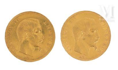 Deux pièces 50 FF or