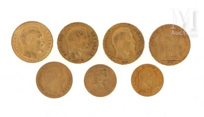 Sept pièces en or