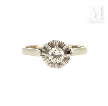 Solitaire diamant 0.30 ct