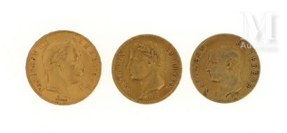 Trois pièces en or