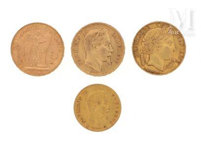 Quatre pièces en or