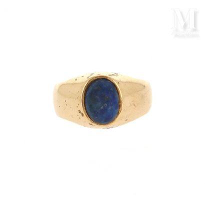 Chevalière lapis lazuli