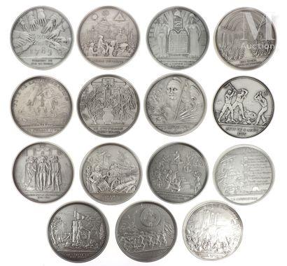 15 médailles bronze - Bicentenaire de la Révolution Française
