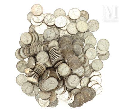 Lot de 5 FF Semeuse argent