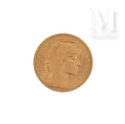 Pièce 20 FF or Une pièce en or de 20 FF Coq  1909