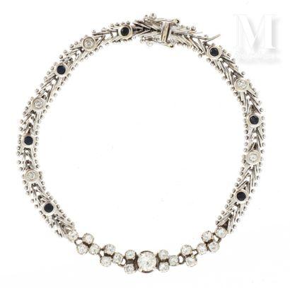 Bracelet diamants saphirs