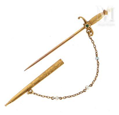 Epée en or
