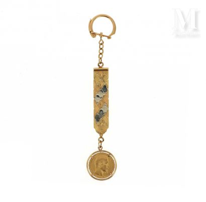Porte-clefs 20 FF or