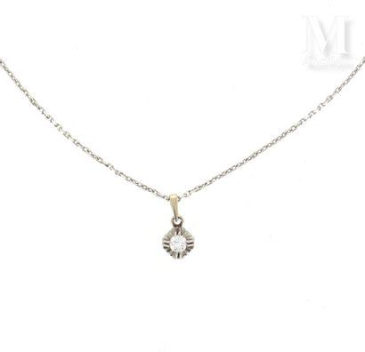 Pendentif diamant 0.25 ct.