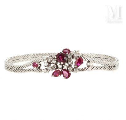 Bracelet rubis et diamants