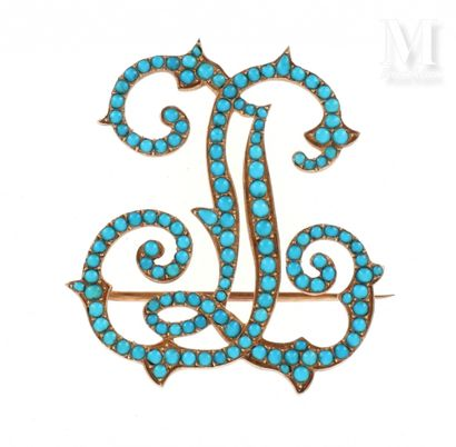 Broche JL turquoises