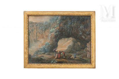 Attribué à Antonio DEL DRAGO (Actif à Rome à la fin du XVIIIème siècle)