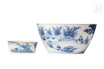 VIETNAM, XVIII/XIXe siècle, Bol et coupe en porcelaine