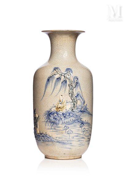 VIETNAM, fin XIXe/début XXème siècle, Vase en céramique de Bat Trang